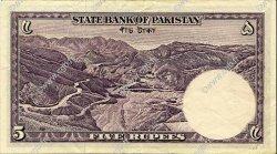 5 Rupees PAKISTAN  1951 P.12 TTB+