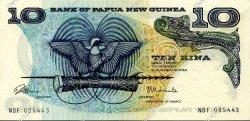 10 Kina PAPOUASIE NOUVELLE GUINÉE  1975 P.03 SPL