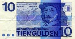 10 Gulden PAYS-BAS  1968 P.091 SUP