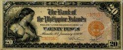 20 Pesos PHILIPPINES  1920 P.015 SUP