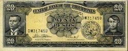 20 Pesos PHILIPPINES  1949 P.137e TTB