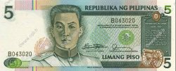 5 Pesos PHILIPPINES  1985 P.168a NEUF