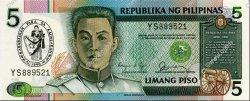 5 Pesos PHILIPPINES  1990 P.178a NEUF