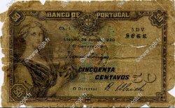 50 Centavos PORTUGAL  1920 P.112b AB