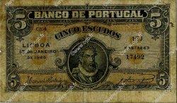 5 Escudos PORTUGAL  1925 P.133 B+