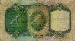 20 Escudos PORTUGAL  1954 P.153a TB