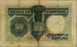 500 Escudos PORTUGAL  1942 P.155 TB