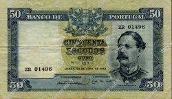 50 Escudos PORTUGAL  1953 P.160 TTB