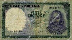 20 Escudos PORTUGAL  1960 P.163 TB+