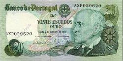 20 Escudos PORTUGAL  1978 P.176b pr.NEUF