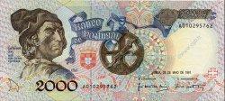 2000 Escudos PORTUGAL  1991 P.186a pr.NEUF
