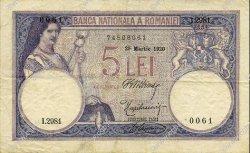 5 Lei ROUMANIE  1920 P.019a TTB
