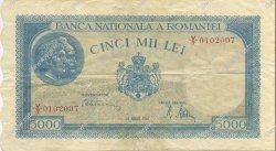 5000 Lei ROUMANIE  1945 P.056a TTB