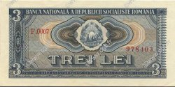 3 Lei ROUMANIE  1966 P.092a pr.NEUF