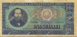 100 Lei ROUMANIE  1966 P.097a TTB