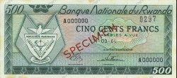 500 Francs RWANDA  1964 P.09s1 SPL