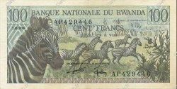 100 Francs RWANDA  1978 P.12 SUP+