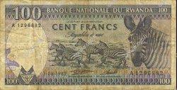 100 Francs RWANDA  1982 P.18 B à TB