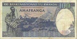 100 Francs RWANDA  1982 P.18 TTB