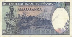 100 Francs RWANDA  1989 P.19 SUP