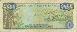 5000 Francs RWANDA  1988 P.22 TB