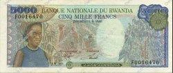 5000 Francs RWANDA  1988 P.22 TTB