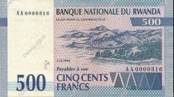 500 Francs RWANDA  1994 P.23 SUP+