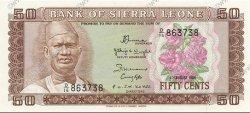 50 Cents SIERRA LEONE  1984 P.04e NEUF