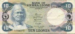 10 Leones SIERRA LEONE  1984 P.08b TTB