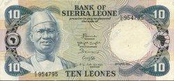 10 Leones SIERRA LEONE  1984 P.08b SUP