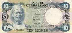 10 Leones SIERRA LEONE  1984 P.08c SUP