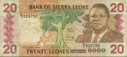 20 Leones SIERRA LEONE  1988 P.16 TB+