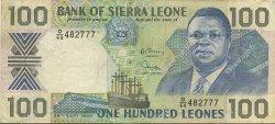 100 Leones SIERRA LEONE  1990 P.18c TB à TTB