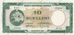 10 Scellini SOMALIE  1962 P.02a SUP+