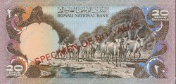 20 Shilin SOMALIE  1975 P.19s NEUF