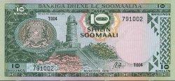 10 Shilin SOMALIE  1978 P.22a NEUF