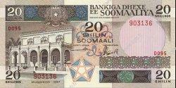 20 Shilin SOMALIE  1987 P.33c NEUF