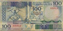 100 Shilin SOMALIE  1986 P.35b TB