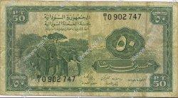 50 Piastres SOUDAN  1956 P.02A TB