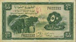 50 Piastres SOUDAN  1956 P.02B TB+