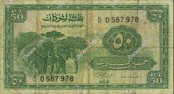 50 Piastres SOUDAN  1967 P.07b B+