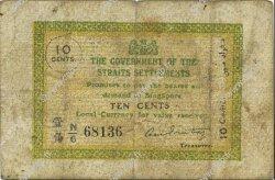 10 Cents MALAISIE - ÉTABLISSEMENTS DES DÉTROITS  1917 P.06b TB
