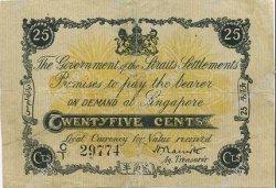 25 Cents MALAISIE - ÉTABLISSEMENTS DES DÉTROITS  1917 P.07 TB+