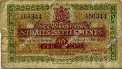10 Cents MALAISIE - ÉTABLISSEMENTS DES DÉTROITS  1919 P.08b B