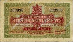 10 Cents MALAISIE - ÉTABLISSEMENTS DES DÉTROITS  1919 P.08b TB