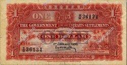 1 Dollar MALAISIE - ÉTABLISSEMENTS DES DÉTROITS  1930 P.09b TB