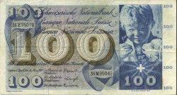 100 Francs SUISSE  1963 P.49e TB