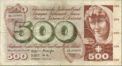 500 Francs SUISSE  1967 P.51e TB