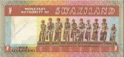 1 Lilangeni SWAZILAND  1974 P.01a SPL