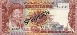 1 Lilangeni SWAZILAND  1974 P.01s NEUF